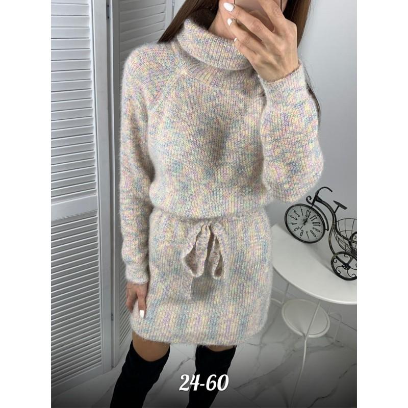 Платье вязаное женское