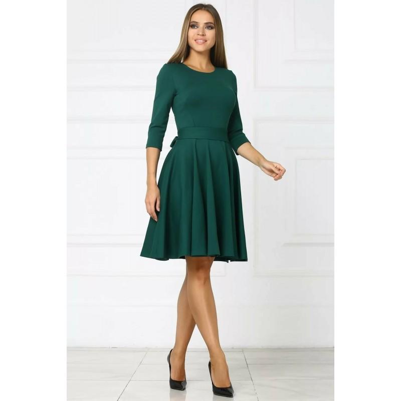 Платье c широким поясом
