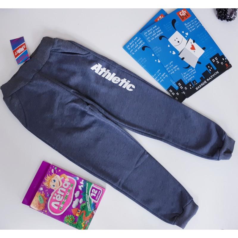 Спортивные брюки утепленные серые