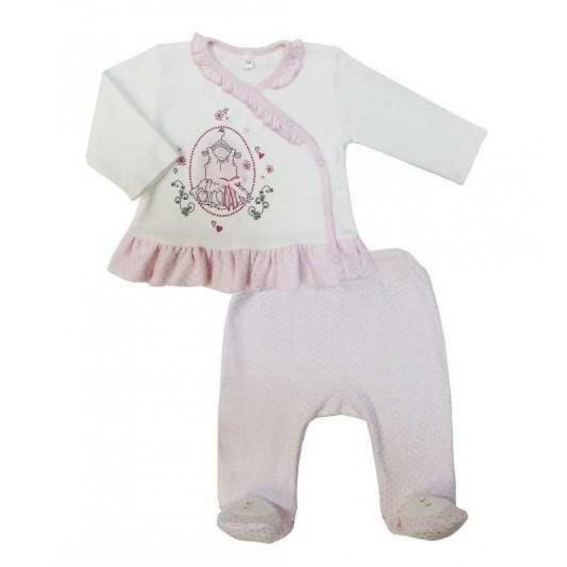 Комплект для малышей: кофточка, ползунки
