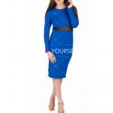 Платье синее